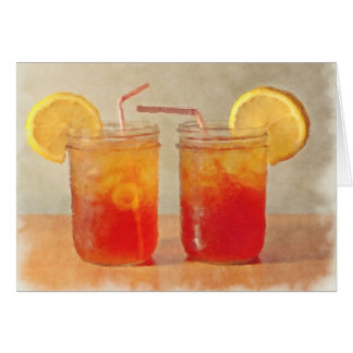 Tea for Two Southern Style Mason Jars of Sweet Tea Card