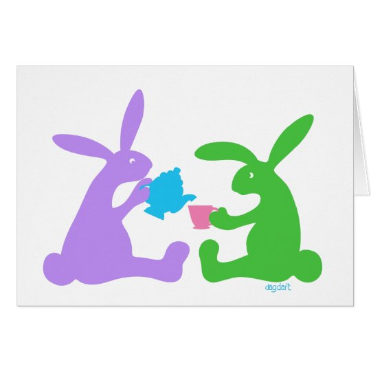 Tea for Two - The Rabbits Card