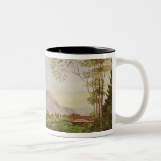 Tea Gathering in Mr Hoelle's plantation at Two-Tone Coffee Mug