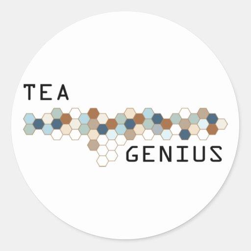Tea Genius Round Sticker