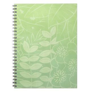 Tea-Green Tropical Foliage Notebook