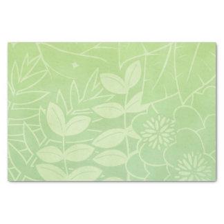 Tea-Green Tropical Foliage Tissue Paper