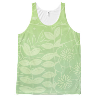 Tea-Green Tropical Foliage Unisex Tank