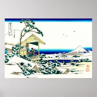 Tea House Hokusai Japanese Fine Art Poster