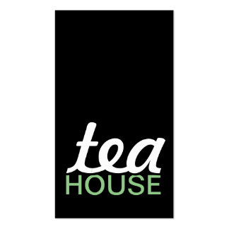tea house punch card pack of standard business cards