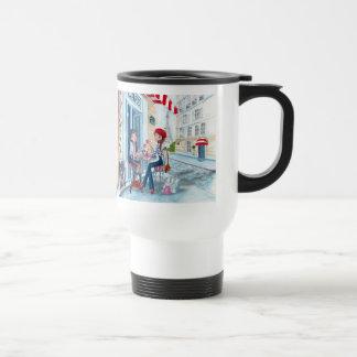 Tea in Paris Fashion Girls Cute - Travel Mug