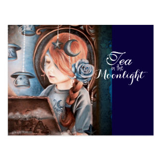 Tea in the Moonlight Postcard