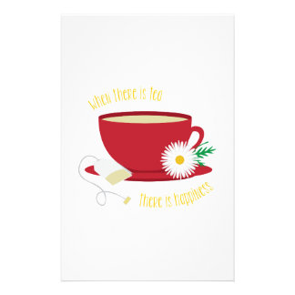 Tea Is Happiness Stationery