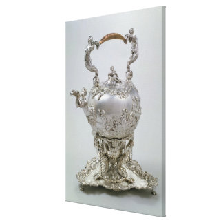 Tea kettle and stand by C.Kandler, London, 1730 Stretched Canvas Prints