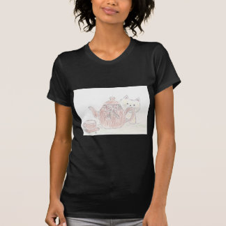 Tea Kettle Kitten T-shirt