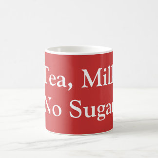 Tea, Milk, No Sugar Coffee Mug