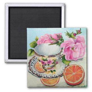 Tea & Orange Magnet