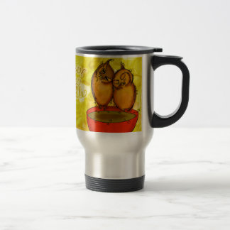 Tea Owl Cuddles Travel Mug