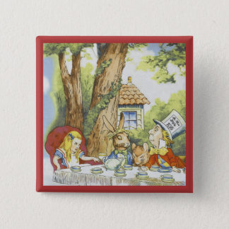 Tea Party 1 2 Inch Square Button