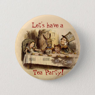 Tea Party 2 Inch Round Button