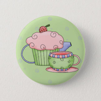 Tea Party 2 Inch Round Button