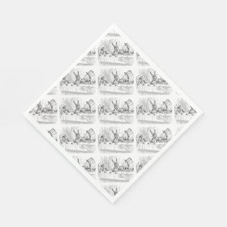 Tea Party Alice in Wonderland Paper Napkins