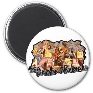 Tea Party Animal cutout Fridge Magnet