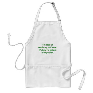 Tea Party Bible Verses: Paying Taxes Mark 12:17 Adult Apron