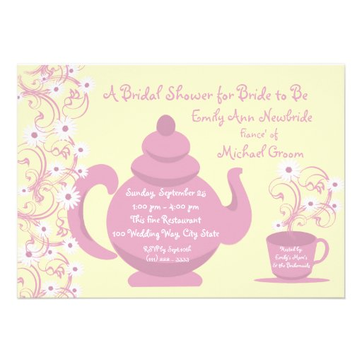 Tea party bridal shower and recipe cards zazzle for Zazzle custom t shirts