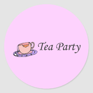 Tea Party Classic Round Sticker