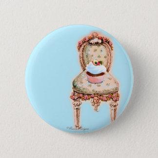 Tea Party Cupcake Design 2 Inch Round Button