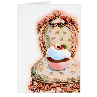 Tea Party Cupcake Design Card