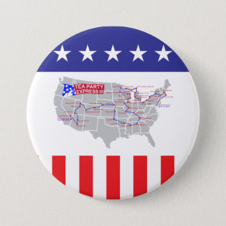 Tea Party Express III 3 Inch Round Button
