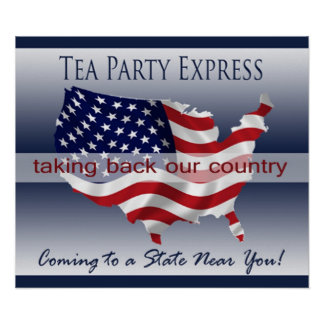 Tea Party Express Poster