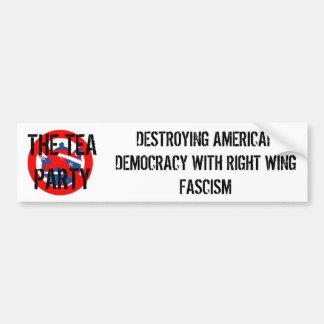 TEA PARTY FASCISM BUMPER STICKER