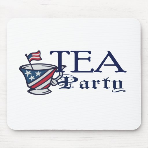 Tea Party Flag Mouse Pad