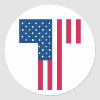 Tea Party Flag Round Sticker