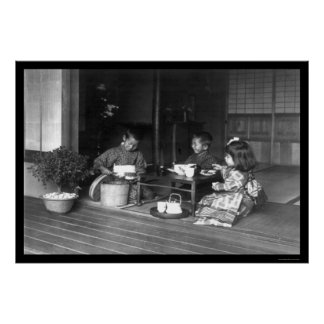 Tea Party for Kids Japan 1909 Poster