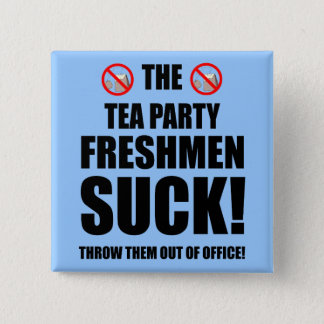 tea party freshmen 2 inch square button