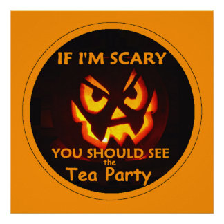 TEA PARTY Halloween POSTER Print