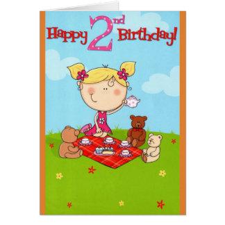 Tea Party Happy Birthday Card