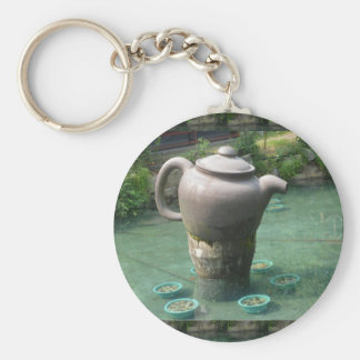 Tea Party Invitation:  Chinese Tea Park Keychain