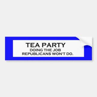 tea party job3 bumper sticker
