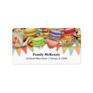 Tea party label