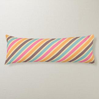 Tea Party Pastel Stripes Pattern Body Pillow