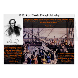 Tea Party Patrick Henry Greeting Card