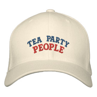 Tea Party People Embroidered Hat