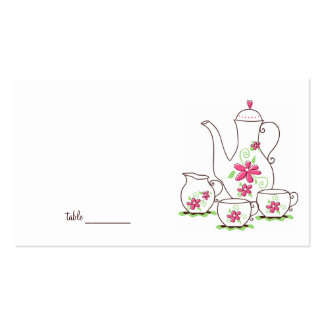 Tea Party Place Cards Business Card