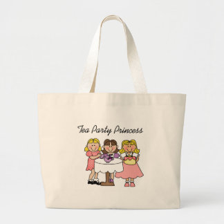 Tea Party Princess Large Tote Bag