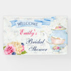 Tea Party Roses Teacups Teapot Banner