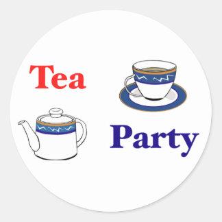 Tea Party Round Sticker
