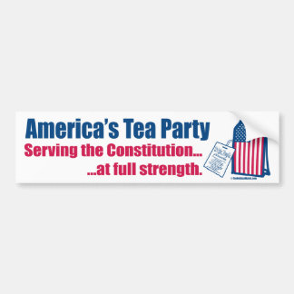 Tea Party Serving the Constitution Bumper Sticker