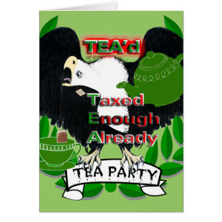 TEA Party Supplies Greeting Card
