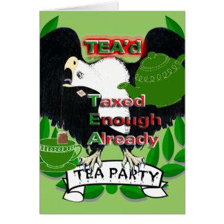 TEA Party Supplies Greeting Card