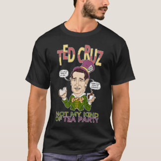 Tea Party Ted Black T-Shirt